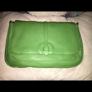 Green Leather w/ Crossbody Strap